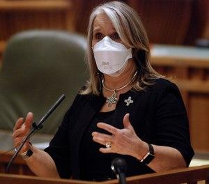 New Mexico Gov. Michelle Lujan Grisham. (AP Photo/Morgan Lee)